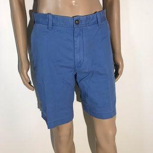 New Mens Izod Flat Front Luxury Sport Blue Shorts